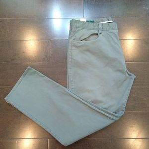 Perry Ellis | Khaki Flat Front Pants